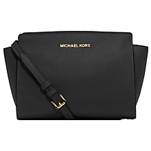 Buy MICHAEL Michael Kors Selma Mid Leather Messenger Bag Online at johnlewis.com