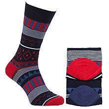 Buy John Lewis Christmas Theme Socks, Pack of 2, One Size, Red/Blue Online at johnlewis.com