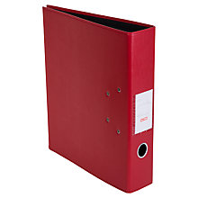 Buy Osco Lever Arch A4 Faux Leather Ring Binder, Red Online at johnlewis.com