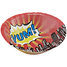 Buy Ginger Ray Pop Art Yum Paper Bowls, Set of 8 Online at johnlewis.com