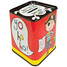 Buy Rachel Ellen Pirate Money Tin Online at johnlewis.com