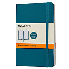 Buy Moleskine Ruled Pocket Notebook, Blue Online at johnlewis.com