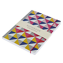 Buy Go Statinery Bright Geo A5 Notebook Online at johnlewis.com