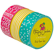 Buy Happy Jackson Printed Sticky Tape, Set of 3 Online at johnlewis.com
