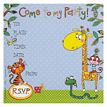 Buy Rachel Ellen Jungle Animals Party Invites, Pack of 8 Online at johnlewis.com