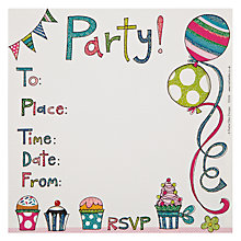 Buy Rachel Ellen Balloon Party Invites, Pack of 8 Online at johnlewis.com