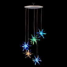 Buy John Lewis Indoor Starburst Colour-Changing LED Mobile, Multi Online at johnlewis.com