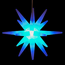 Buy John Lewis Starburst LED Window Light, Blue Online at johnlewis.com
