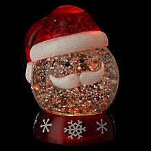 Buy John Lewis Morphing Santa Snow Globe Online at johnlewis.com