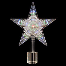 Buy John Lewis Colour-Changing Star Indoor Tree Topper Online at johnlewis.com