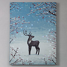 Buy John Lewis Reindeer Pre-Lit Canvas Online at johnlewis.com