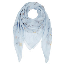 Buy NW3 by Hobbs Dragonfly Scarf, Blue Multi Online at johnlewis.com