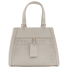 Buy Reiss Cut Out Detail Harlow Handbag, Cream Online at johnlewis.com