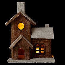 Buy John Lewis Light Up Church, Natural Online at johnlewis.com