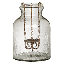 Buy John Lewis Glass Jar with Iron Candle Holder, Small Online at johnlewis.com