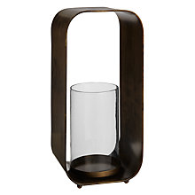 Buy John Lewis Rectangle Candleholder, H30cm, Brass Online at johnlewis.com