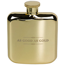 Buy Ted Baker As Good as Gold Hip Flask, 4oz Online at johnlewis.com