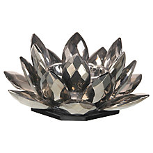 Buy Parlane Crystal Lotus Tealight Holder, Grey, Small Online at johnlewis.com