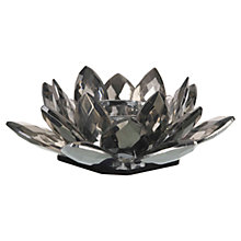 Buy Parlane Crystal Lotus Tealight Holder, Grey, Large Online at johnlewis.com