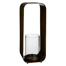Buy John Lewis Rectangle Candleholder, H37cm, Brass Online at johnlewis.com