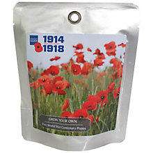 Buy The Royal British Legion Grow Your Own First World War Centenary Poppy Online at johnlewis.com