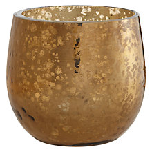 Buy John Lewis Hammer Glass Tealight Holder Online at johnlewis.com