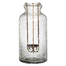 Buy John Lewis Glass Jar with Iron Candle Holder, Medium Online at johnlewis.com