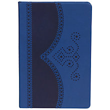 Buy Ted Baker Brogue A5 Notebook, Blue Online at johnlewis.com