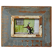 "Buy Dassie Rustic Frame, French Blue, 4 x 6"" Online at johnlewis.com"