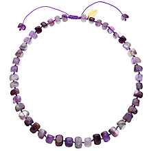 Buy Lola Rose Bryson Cape Amethyst Necklace, Purple Online at johnlewis.com
