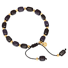 Buy Lola Rose Erskine Black Agate And Blue Sandstone Bracelet, Black/ Blue Online at johnlewis.com