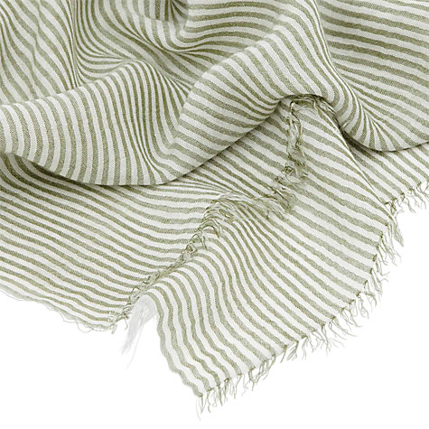 Buy Reiss Weber Striped Lightweight Scarf Online at johnlewis.com