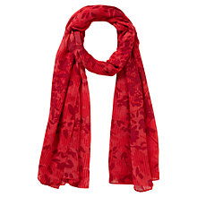 Buy Viyella Ella Floral Scarf, Brick Online at johnlewis.com