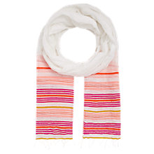 Buy Jigsaw Neon Stripe Scarf Online at johnlewis.com