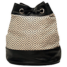 Buy French Connection Alana Duffle Bag, Cream/Black Online at johnlewis.com