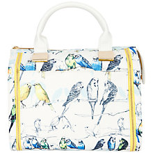 Buy Ted Baker Canary Print Bowler Bag, White Online at johnlewis.com