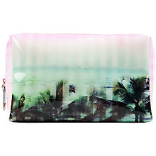 Buy Ted Baker Palm Print Large Wash Bag, Light Pink Online at johnlewis.com