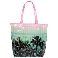 Buy Ted Baker Palm Tree Print Small Icon Bag, Light Pink Online at johnlewis.com