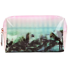 Buy Ted Baker Palm Print Small Wash Bag, Light Pink Online at johnlewis.com