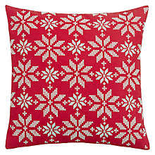 Buy John Lewis Snowflakes Cushion Online at johnlewis.com