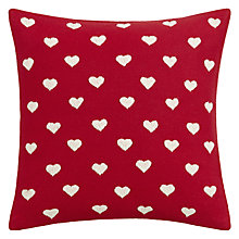 Buy John Lewis Felt Hearts Cushion Online at johnlewis.com