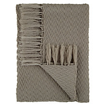 Buy John Lewis The Basics Zigzag Weave Throw Online at johnlewis.com
