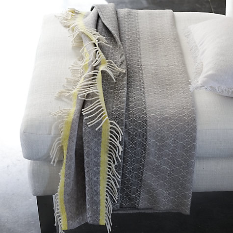 Buy Designers Guild Zari Throw, Graphite Online at johnlewis.com
