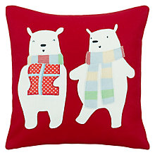 Buy John Lewis Pair of Polar Bears Cushion Online at johnlewis.com