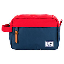 Buy Herschel Chapter Wash Bag, Navy/Red Online at johnlewis.com