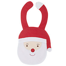 Buy John Lewis Novelty Santa Bib, White/Red Online at johnlewis.com