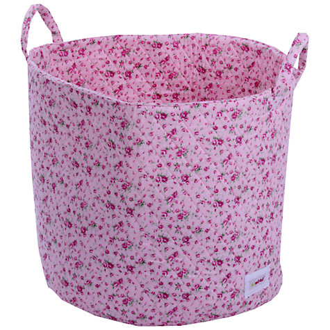 Buy Minene Flowers Storage Basket, Pink Online at johnlewis.com
