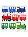 Happy Spaces Choo Choo Canvas Print