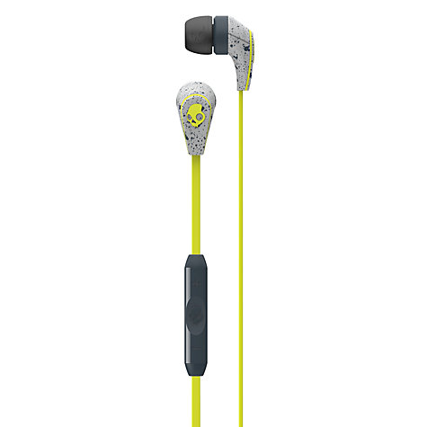 Buy Skullcandy 50/50 In-Ear Headphones with Mic/Remote, Grey/Lime Online at johnlewis.com
