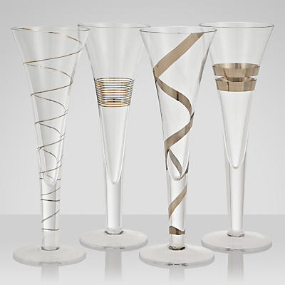 LSA International Gatsby Flutes, Set of 4